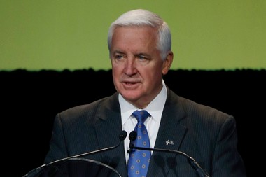 Gov. Tom Corbett is eligible to receive a $1887,818 salary in 2014, but he will only be accepting $174,914, the salary assigned to the governor's office when he was elected in 2010.