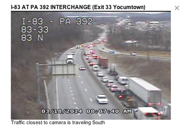 Traffic update: traffic moving again after accident along