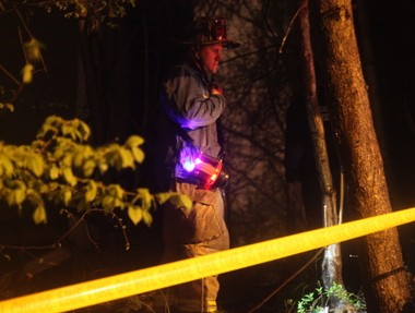 City firefighters roped off the area around both buildings. Two adults and four children who lived next door were evacuated until a thorough inspection of the properties could be made.