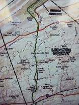 Central Penn South pipeline map in Lebanon County