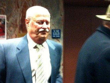 Former Turnpike Commission Chairman Mitchell Rubin leaves a Dauphin County courtroom after pleading guilty to a bribery charge Thursday.
