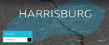 A screenshot from Uber's website shows its coverage of the Harrisburg area. (Uber