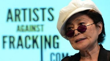 "Yoko Ono's New York billboards which read, ""Gov. Cuomo, Imagine There's No Fracking,"" caught people's attention, making enemies Upstate. Ono also headlined the group, Artists Against Fracking, recording the song, ""Don't Frack My Mother."""
