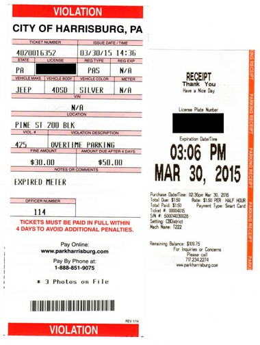 Harrisburg driver gets second parking ticket in two months