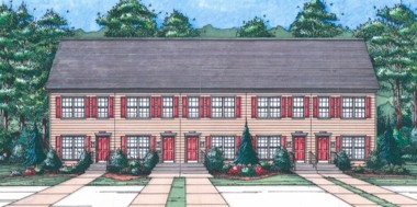 Architect's rendering of what new townhomes to be built in 4700 block of Tuscarora Street will look like.