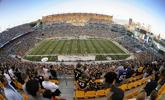 Gov. Tom Corbett brought a Shell executive to Pittsburgh's Heinz Field as part of his efforts to sell the company on bringing natural gas infrastructure to Pennsylvania.