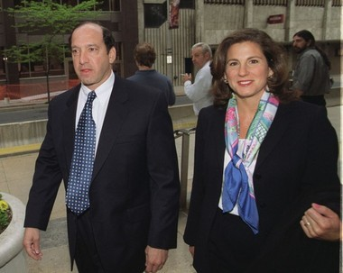 Former Rite Aid Chairman and CEO Martin Grass, with his wife Jody Grass, enter the Federal Courthouse in Harrisburg, on Monday, May 5, 2003, for jury selection in a trial against him on various fraud charges related to the drug store giant. The company was the nation's No. 1 drugstore chain in store numbers and the No. 2 chain in sales when he took over in 1995. But that wasn't nearly good enough for Martin Grass.