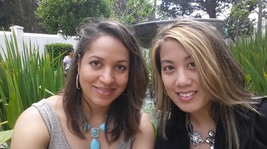 Desiree Cooper, left, is pictured with her best friend, Mai Nguyen, right, during a trip the two took to California in 2014.