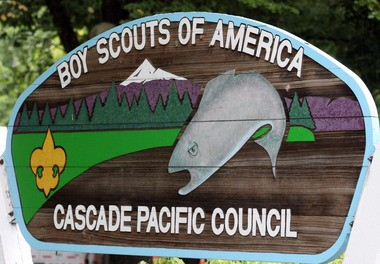 This 2011 file photo shows the Boy Scouts of America Cascade Pacific Council sign, in Portland, Ore. The Boy Scouts of America failed to protect four Oregon youths from a Scouting leader even though the organization knew of sex abuse allegations against him in California, according to a lawsuit filed in May 2012. (AP Photo/Rick Bowmer, File)