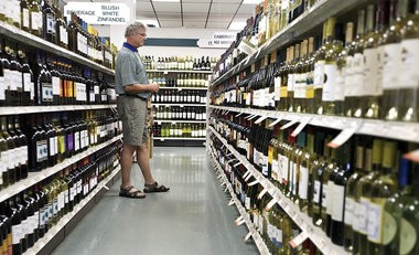 Brian Green of Susquehanna Twp. browses the Wine & Spirits Shoppe at the Oakhurst Plaza in Susquehanna Twp.