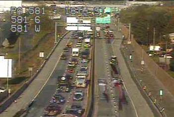 Accident slowing traffic along I-83 northbound near Lemoyne