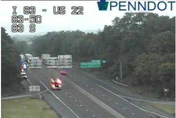 Accident involving a pedestrian blocking traffic on I-83 in Dauphin
