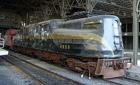 The historic GG1 Pennsylvania railroad locomotive No. 4859 will be temporarily moved on April 5.