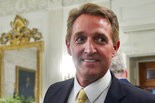 In this photo taken July 19, 2017, Sen. Jeff Flake, R-Ariz. walks to his seat as he attends a luncheon with other GOP Senators and President Donald Trump at the White House in Washington. Flake, a frequent critic of President Donald Trump, announced on Oct. 24, he won't seek re-election. (AP Photo/Pablo Martinez Monsivais, File)