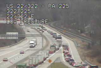 Travel delay: Construction backlogs traffic on Route 22/322