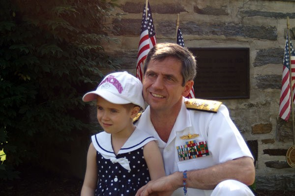 Joe Sestak with his daughter, Alex, who survived glioblastoma, a form of brain cancer.