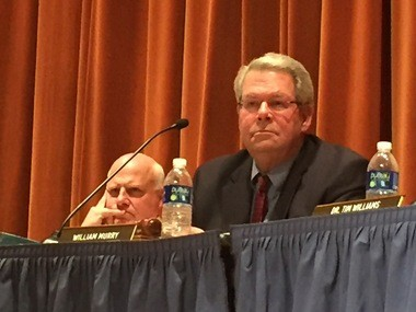 Bill Murry is pictured at Thursday's meeting.