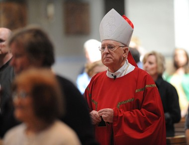 Bishop Joseph Adamec for decades knew about and concealed the clergy sex abuse in the Altoona-Johnstown Diocese, a grand jury report has found. Adamec failed to take action against abusive priests or moved them around from parish to parish or to other dioceses across the country. In this 2010 file photo, Adamec celebrates Mass at the Cathedral of the Blessed Sacrament in Altoona.