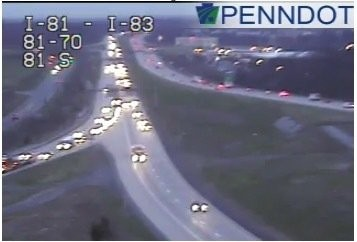 Accident slowing traffic along I-83 south in Dauphin County