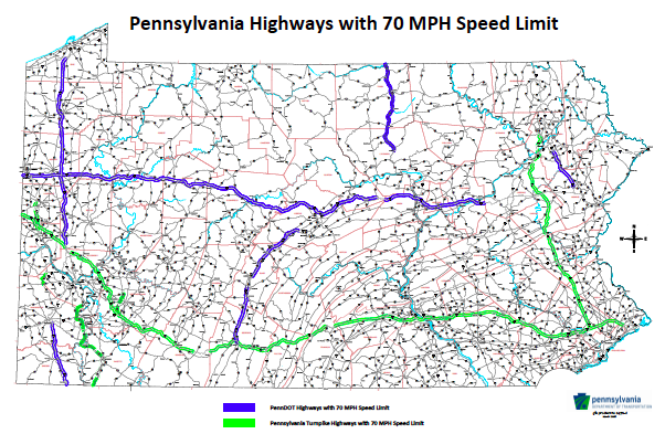 Speed Limit Map Pennsylvania - Home Student