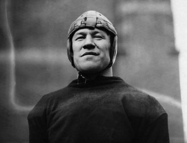 Jim Thorpe, a member of the Sac and Fox Nation, entered the Carlisle Indian Industrial School on February 6, 1904. Despite fierce racism against him and his team at Carlisle, Thorpe became famous internationally as an athlete and went on to have careers in both professional baseball and football. In 1912, he helped lead his squad to national championship title - against an Army team led by a young Dwight Eisenhower. Thorpe left the school in 1913.