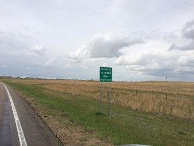 Entering the 1-million-acre Rosebud Reservation in southcentral South Dakota.