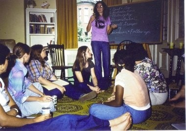 Amid the socio-political changes for women ushered in during the 1970s, a network of advocates in Pennsylvania banded together to form PCADV. This archival photo from PCADV shows an early meeting of advocates during the mid-1970s.PCADV