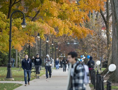 Students walk on the campus of Penn State University. Joe Hermitt, PennLive