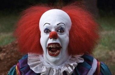 "Many PennLive.com readers were quick to blame Pennywise the Clown from Stephen King's ""It"" as turning these face-painted funny people into spooky specters that haunt their nightmares. Here he is as played by Tim Curry in the 1990 TV miniseries."