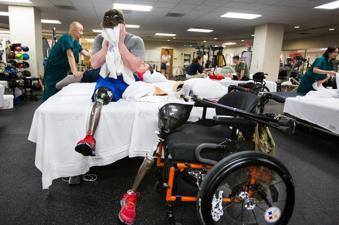 Despite everything - all the hard work, all the time, and all that Rob Easley is learning about working with what he has left - there is one unalterable thing that he and his wife Megan cannot fight: Physics. His residual left limb is simply too short to allow him to walk. He faces a lifetime in a wheelchair.