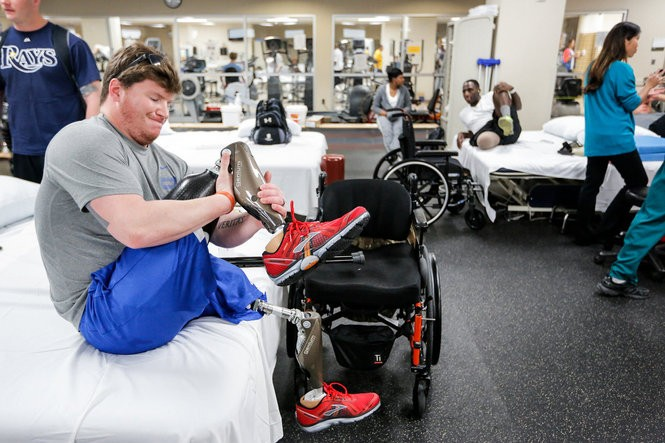 In medical terms, Sgt. Rob Easley is a bilateral, above-knee amputee. In reality, his situation is far worse. The amputation of Rob's left leg is extremely high on his thigh, meaning it will be extremely difficult - and painful - for Rob to walk again using full-sized prosthetic legs.
