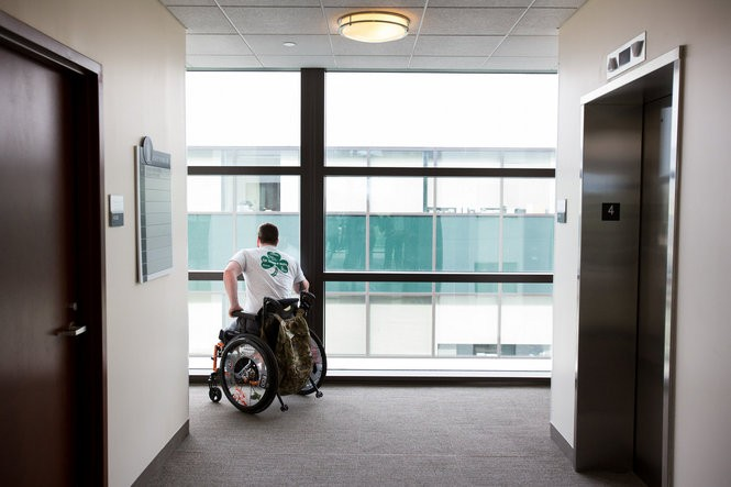 These are dark times for Rob Easley. His brave efforts at rehabilitation have hit a wall due to the physical limitations of his short residual left limb. Confined to his small apartment on the Walter Reed campus, Rob contemplates the potential realities of a lifetime in a wheelchair. But he is not giving up on his goal.