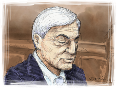 Graham Spanier in Dauphin County Court Monday.