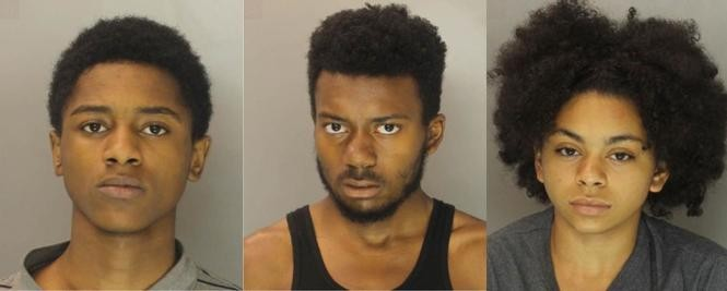 Ricardo McClure, 16, Demetrius Aquino, 18 and Chiara Snyder-Harvey, 14 who have been charged in the death of 20-year-old Dion Walker.