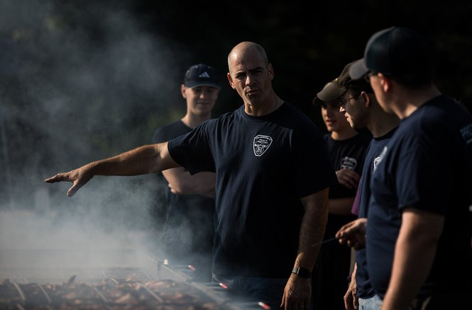 Linglestown Fire Company No. 1 holds a chicken BBQ as a fundraiser. Sean Simmers | ssimmers@pennlive.com August 19, 2017