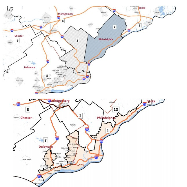 Your Congressional district will change: A look at the Pa ... on map of minneapolis, map of north philly, philadelphia county pennsylvania house districts, map of dallas, map texas districts, map of chicago, map virginia districts, map northwest suburbs of philly, map of kansas city, map of washington, philadelphia planning districts, map of 39th police district, map of syracuse, map of rochester,