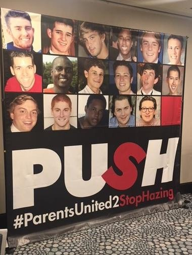 A memorial wall at the parents' conference in South Carolina.