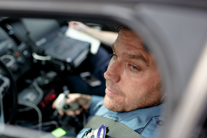 Kevin Roland, an officer with the Lower Paxton Township police, said he and his colleagues would much prefer to use RADAR or LIDAR devices than their existing equipment. (James Robinson for PennLive.com)