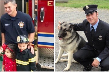 York firefighters Ivan Flanscha, left, and Zachary Anthony died of injuries suffered when the remains of a building, destroyed by fire a day earlier, collapsed upon them and two other firefighters around 4 p.m. Thursday. All firefighters were taken to York Hospital, where Flanscha and Anthony died.