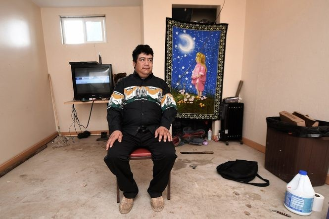 Guillermo Peralta, here in his spartan basement room in York Springs, is a cognitively disabled man who was arrested by ICE officers looking for a convicted cocaine dealer.