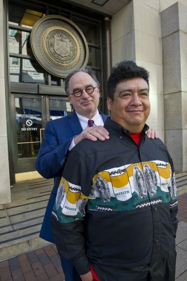 uillermo Peralta stands with his attorney, Craig R. Shagin, outside immigration court in Philadelphia on Feb. 21. Nothing was decided that day; his next hearing is not until 2020.