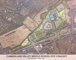 A conceptual map of Cumberland Valley School District's plan for development of the McCormick Farm property in Silver Spring Township.