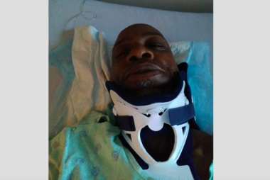 Jamal Brown spent three days in a hospital after he was struck on State Street.