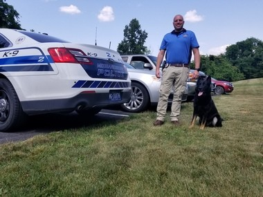Officer Justin Shutt on hearing about the diagnosis of Lyme disease in K9 Marc. 'It was a shock. I didn't see it coming. I wanted to know what we could do to help him.'