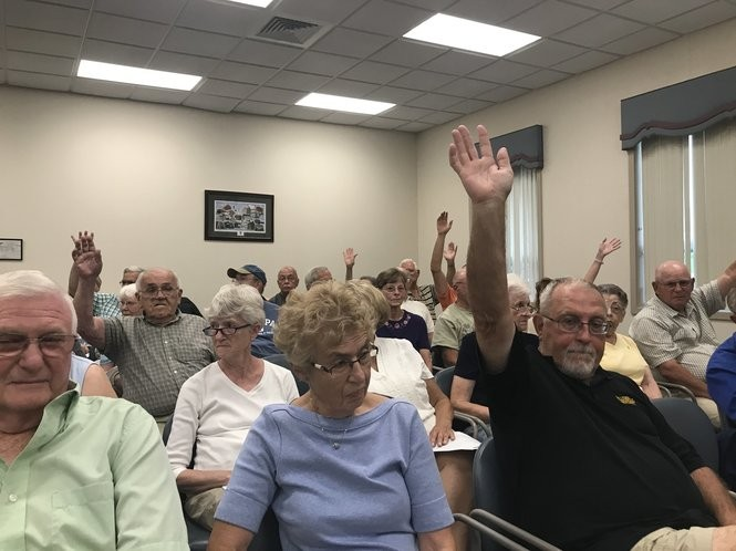 It was evenly split between the 60 or so who attended Thursday night's South Middleton Township supervisors' meeting between those who opposed a possible casino coming to the township and those who were in favor of it.