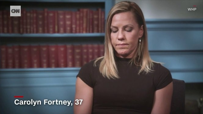 Carolyn Fortney, now 37, says the abuse by her family priest began before she was even two years old.