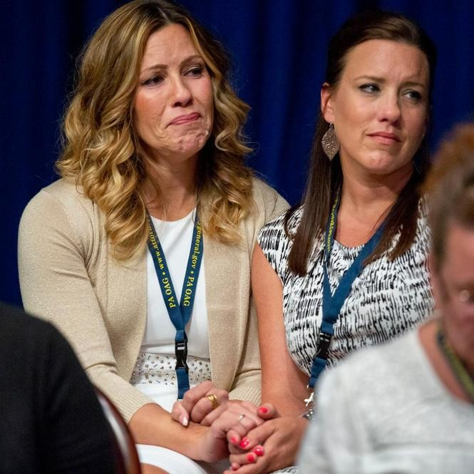 Carolyn Fortney (left) and one of her sisters are among the estimated 1,000 Catholic Church sex abuse victims in Pa.