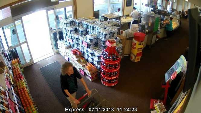 Here is a second look at the suspect from store surveillance photos released by police.