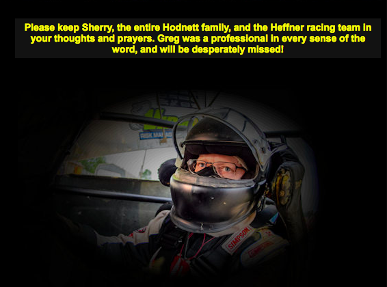 A screenshot of the statement posted to Greg Hodnett's website late Thursday night.