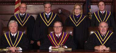 The justices of Pennsylvania's Supreme Court